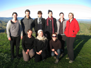 photo of yoga group on retreat